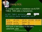 using sql19