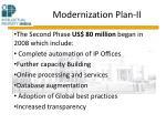 modernization plan ii