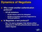 dynamics of negotiate