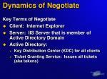dynamics of negotiate14