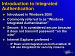 introduction to integrated authentication