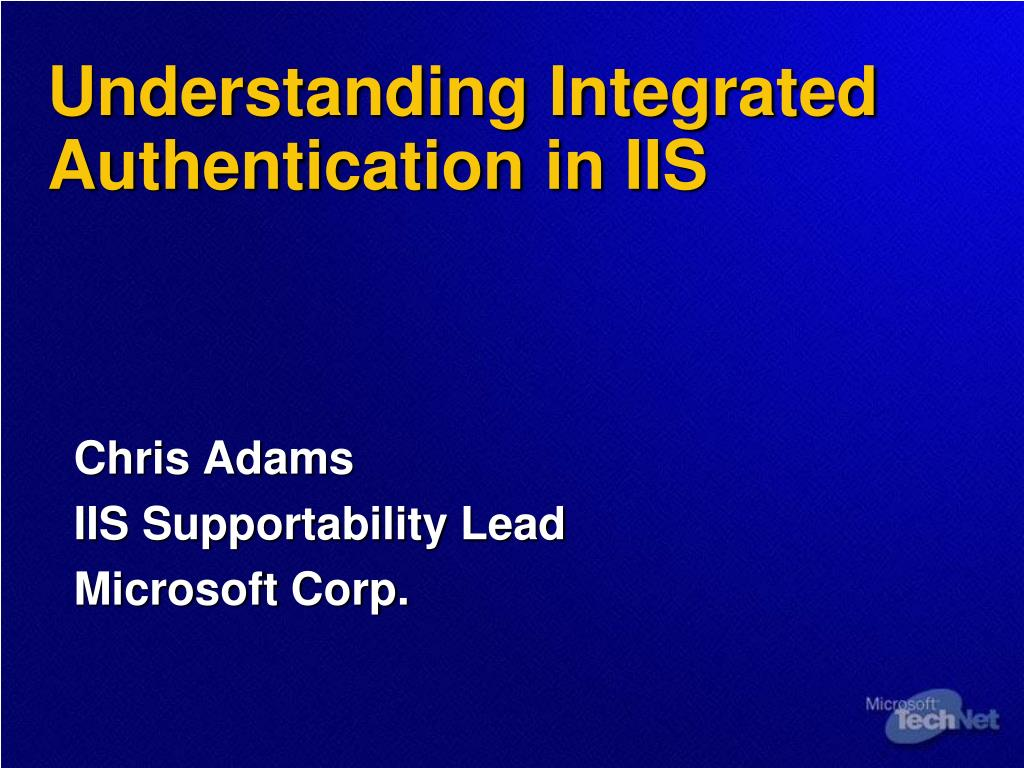 understanding integrated authentication in iis l.