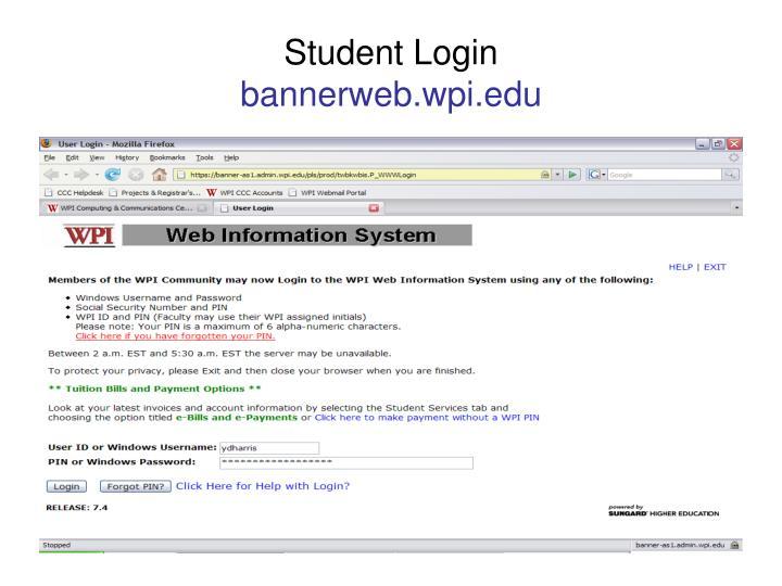 student login bannerweb wpi edu n.