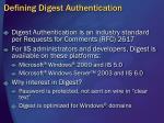 defining digest authentication