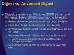 digest vs advanced digest