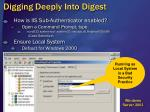 digging deeply into digest12