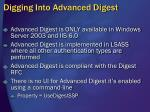 digging into advanced digest