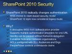 sharepoint 2010 security