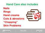 hand care also includes