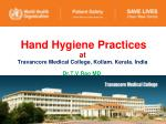 hand hygiene practices at travancore medical college kollam kerala india