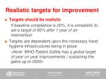 realistic targets for improvement