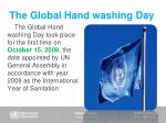 the global hand washing day