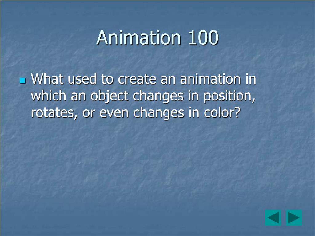 Animation 100