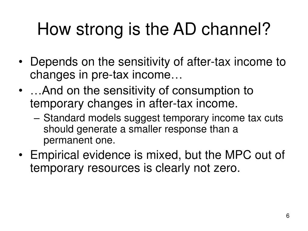 How strong is the AD channel?