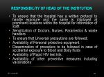 responsibility of head of the institution