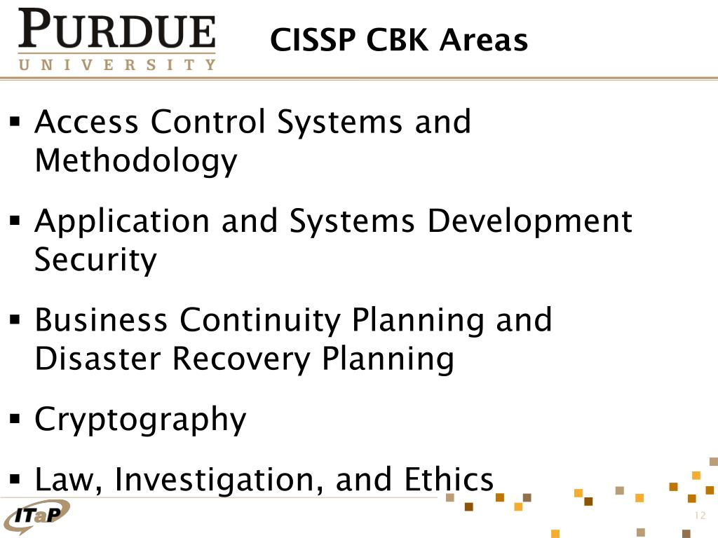 CISSP CBK Areas