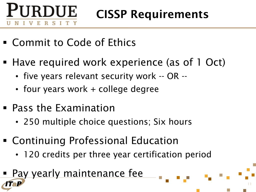CISSP Requirements