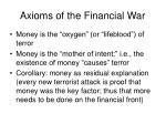 axioms of the financial war