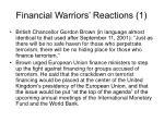 financial warriors reactions 1