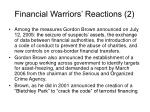 financial warriors reactions 2