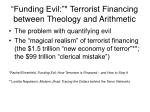 funding evil terrorist financing between theology and arithmetic