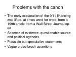 problems with the canon