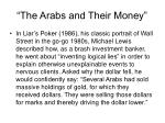the arabs and their money
