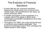 the evolution of financial sanctions