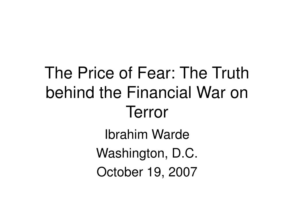 the price of fear the truth behind the financial war on terror l.
