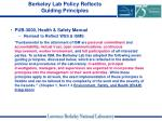 berkeley lab policy reflects guiding principles9