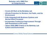 berkeley lab s isms plan is comprehensive