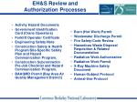 eh s review and authorization processes