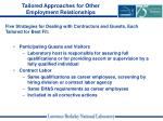 tailored approaches for other employment relationships