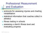 professional measurement and evaluation