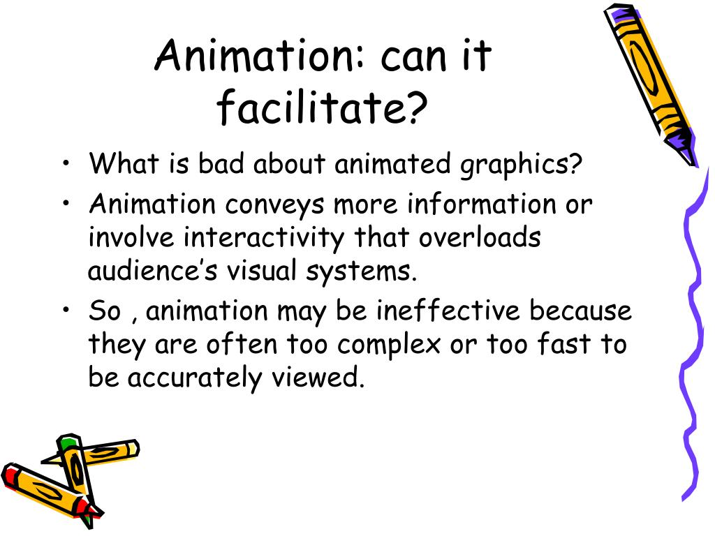 Animation: can it facilitate?