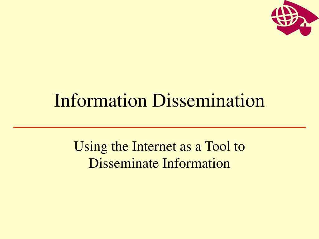 information dissemination l.