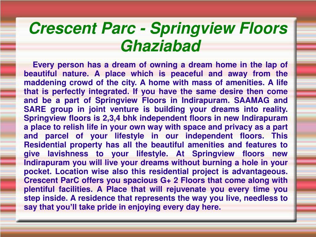 crescent parc springview floors ghaziabad l.