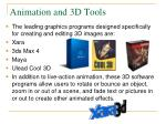 animation and 3d tools