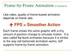frame by frame animation continued