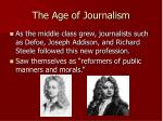 the age of journalism