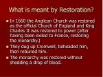 what is meant by restoration