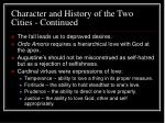 character and history of the two cities continued