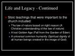 life and legacy continued5