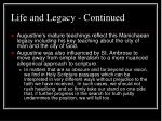 life and legacy continued7
