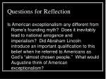 questions for reflection42