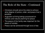 the role of the state continued