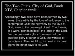 the two cities city of god book xiv chapter xxviii