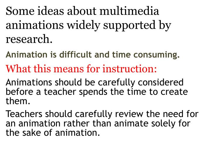 Some ideas about multimedia animations widely supported by research2