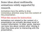 some ideas about multimedia animations widely supported by research4