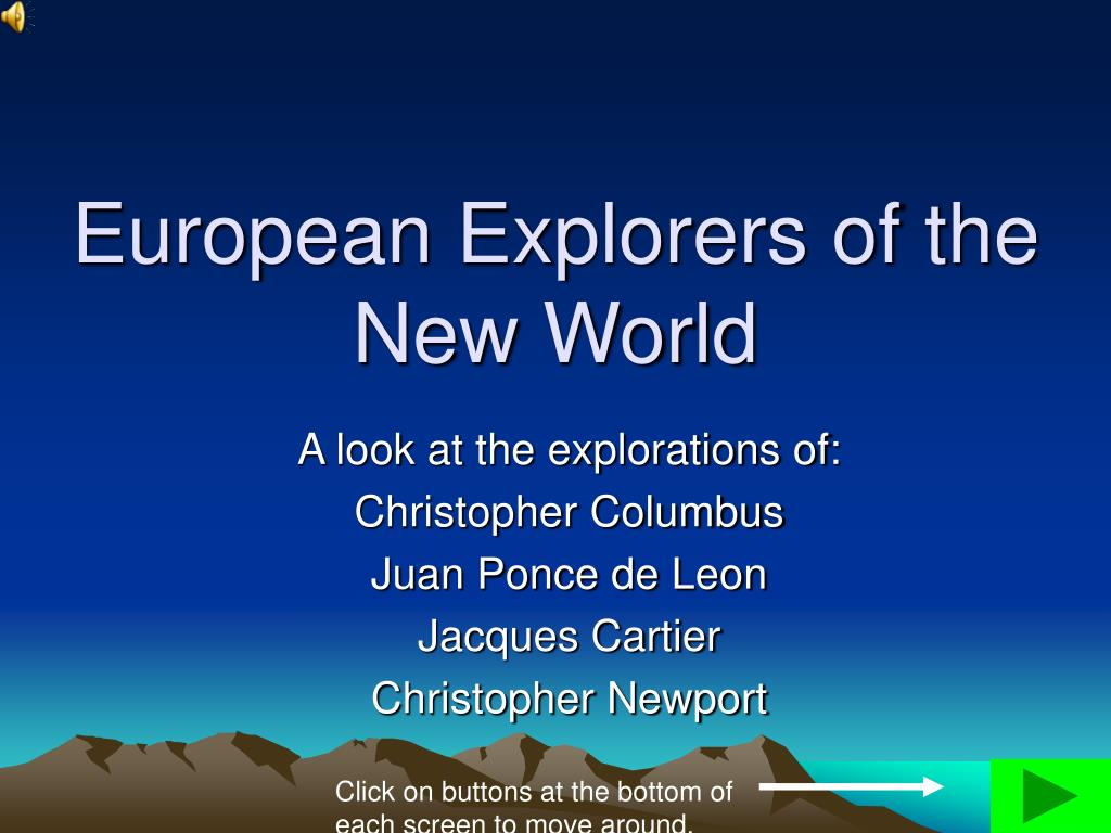 european explorers of the new world l.